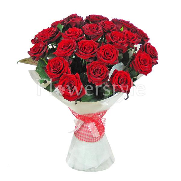 """Букет из бордовых роз """"День влюбленных""""  (15, 25 или 51 роза)"""