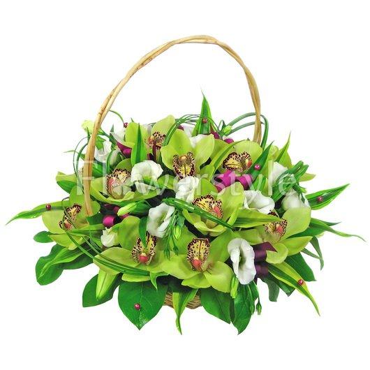 Подарочная корзина из орхидей «Миледи» дополнительные изображения