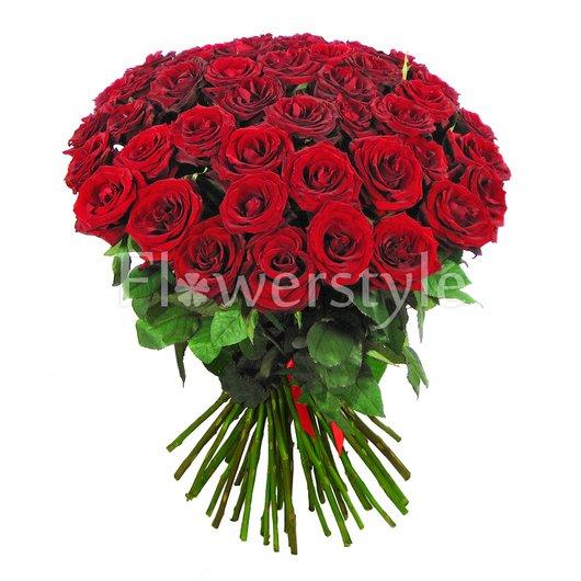 """Букет из бордовых роз """"Дар богов"""" (35, 51 или 75) дополнительные изображения"""