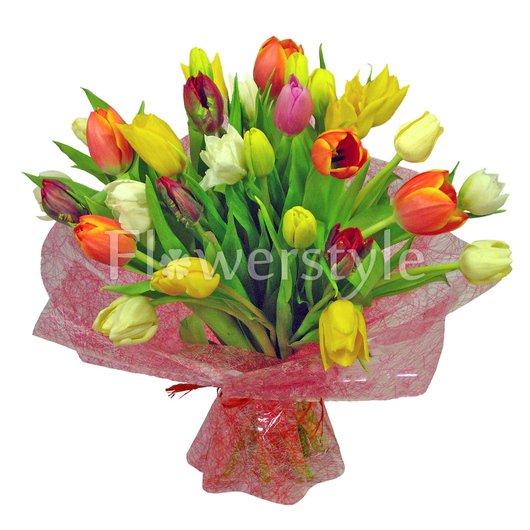 """Букет с тюльпанами """"Романтика"""" (29, 49 или 71) дополнительные изображения"""