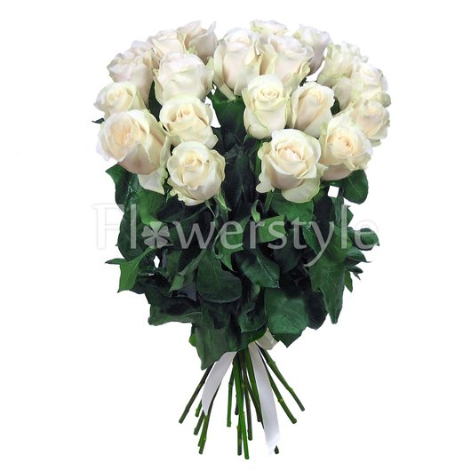 """Белые розы """"Амелия"""" в букете (15, 21 или 35 роз) дополнительные изображения"""