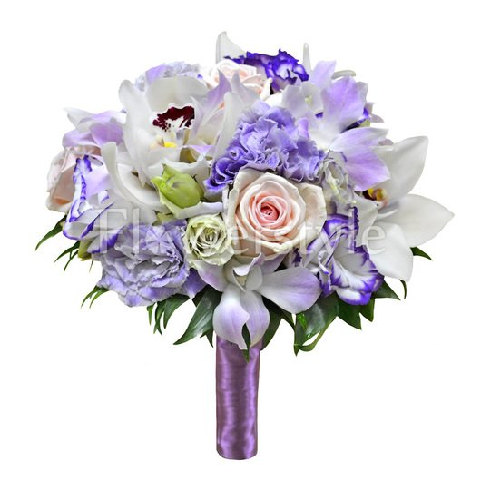 Свадебный букет из орхидей и роз № 12 дополнительные изображения