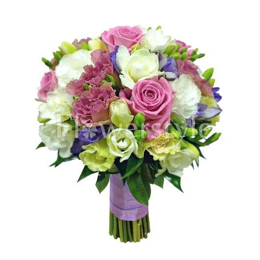 Букет невесты из роз № 32 дополнительные изображения