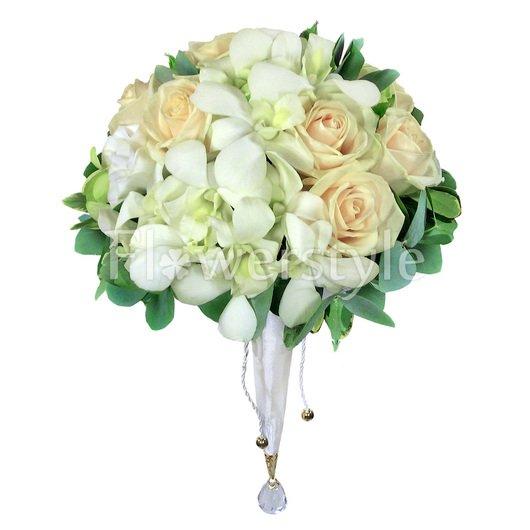Букет цветов для невесты № 115 дополнительные изображения
