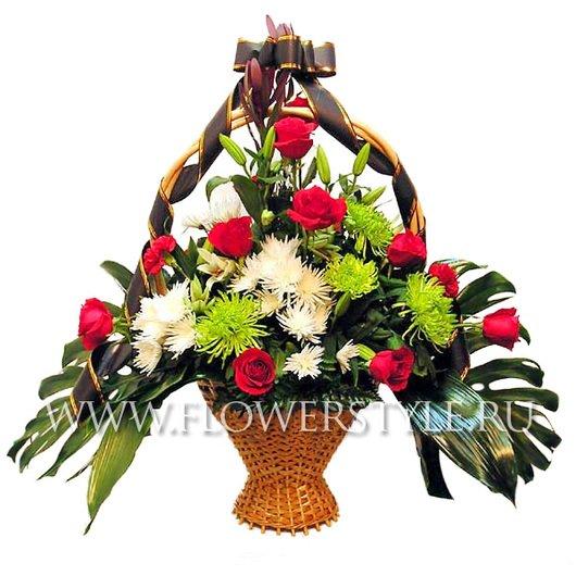 Траурная корзина цветов №2