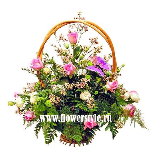 Подарочная корзина «Розовые мечты»