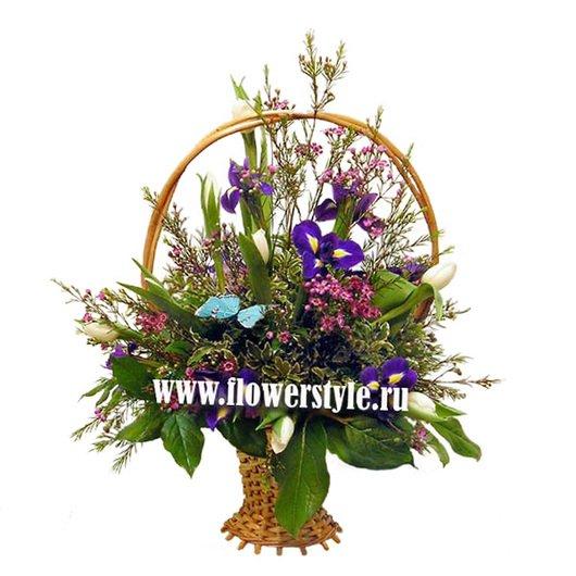 Цветы в корзине «Скандинавская весна»