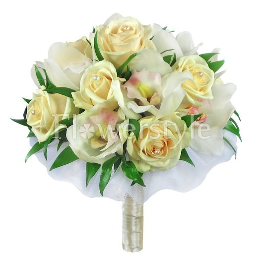Букет цветов для невесты № 49 дополнительные изображения