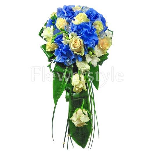 Букет невесты из роз и гортензий № 90 дополнительные изображения