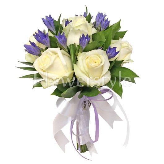 Свадебный букет из роз № 131 дополнительные изображения