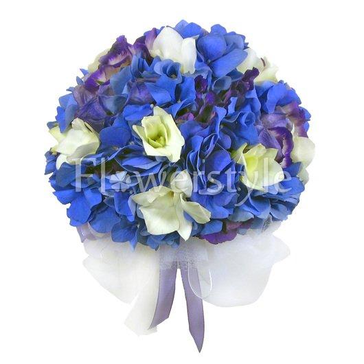 Свадебный букет невесты из гортензий № 2 дополнительные изображения