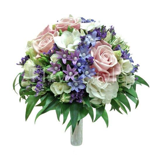 Букет невесты из роз № 103 дополнительные изображения