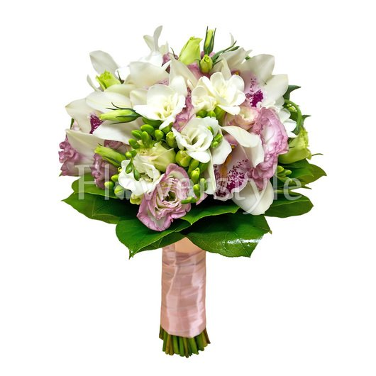 Свадебный букет из орхидей № 107 дополнительные изображения