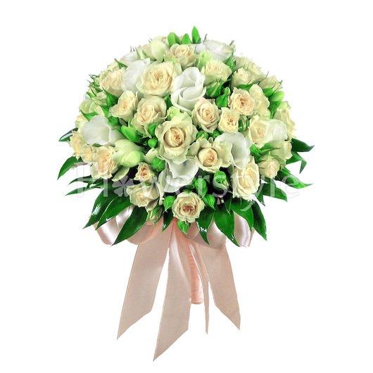 Букет цветов для невесты № 39 дополнительные изображения