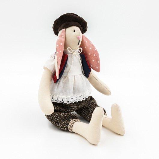 Игрушка ручной работы - Кролик Жерар дополнительные изображения