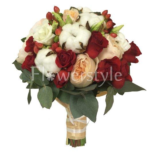 Букет невесты из пионовидной розы №150 дополнительные изображения