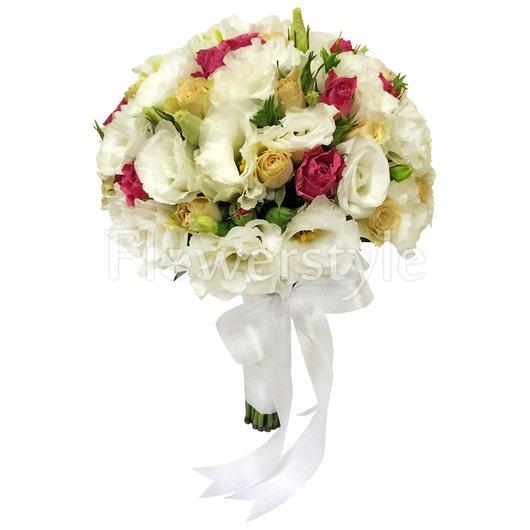 Букет невесты из роз и эустомы №152 дополнительные изображения