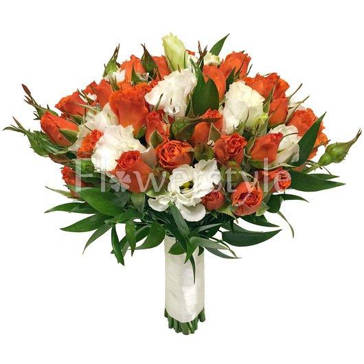 Букет невесты с кустовыми розами №162 дополнительные изображения