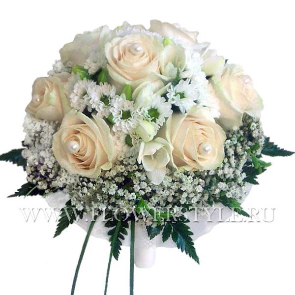 Букет свадебный из 7 роз