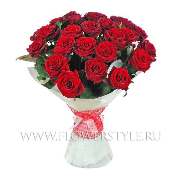 """Букет из 25 роз """"День влюбленных"""""""