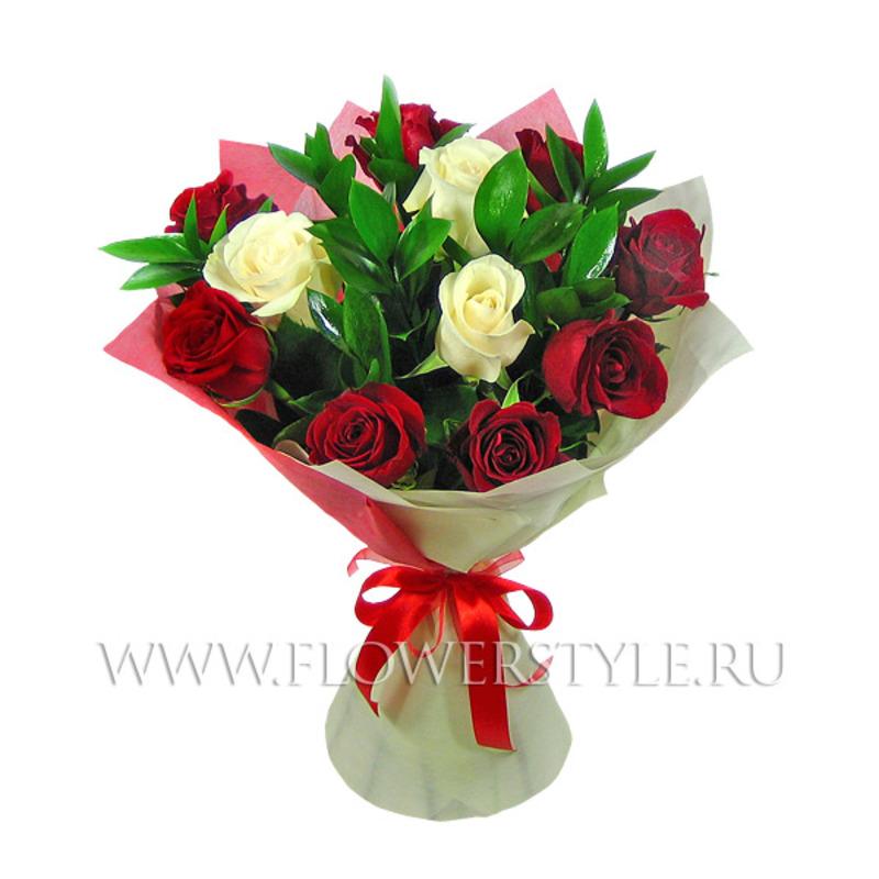 "Букет из 11 роз ""Моей царице"""