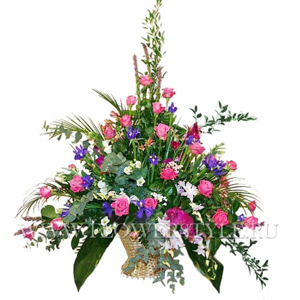 Корзина цветов № 50