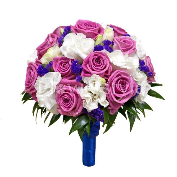 Свадебный букет из роз № 114