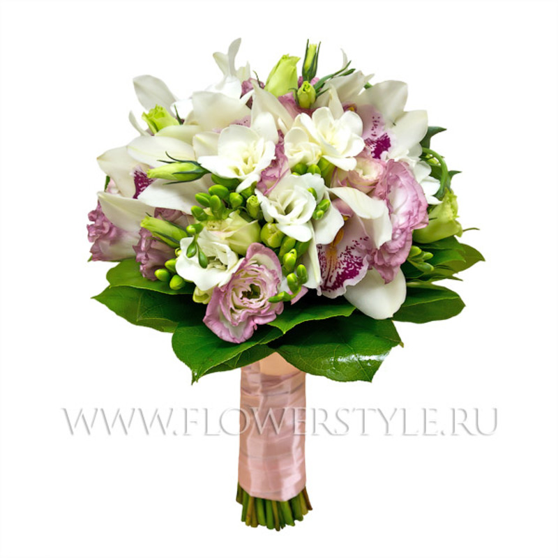Свадебный букет из орхидей № 107