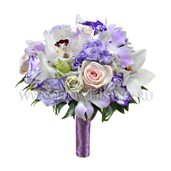 Свадебный букет из орхидей и роз № 12