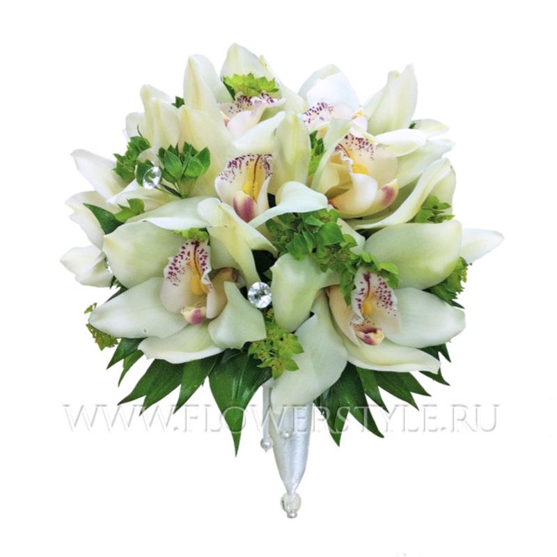 Свадебный букет из орхидей № 40