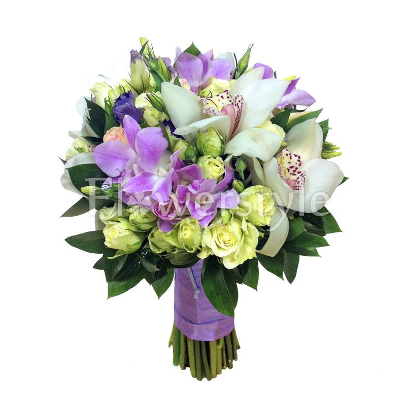 Свадебный букет из орхидей № 29