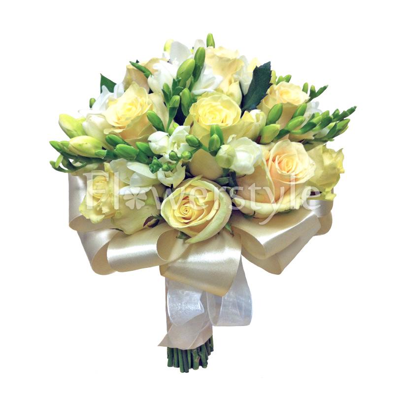 Свадебный букет из роз № 111