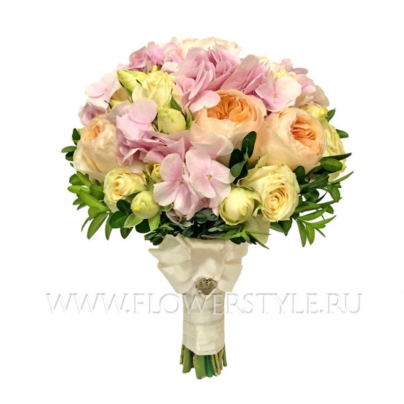 Свадебный букет из пионовидных роз №128