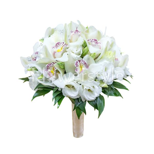Свадебный букет из орхидей № 37