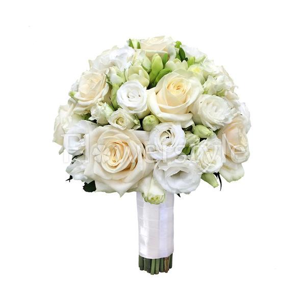 Свадебный букет из роз № 51