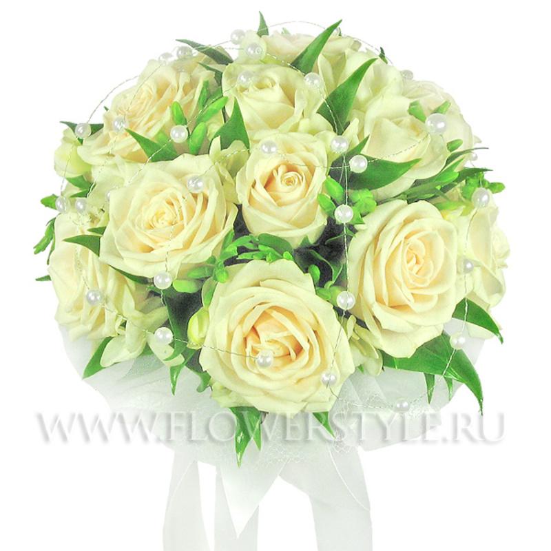 Свадебный букет из роз № 27