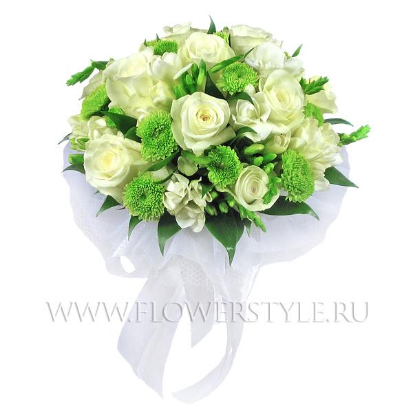 Свадебный букет из роз № 25
