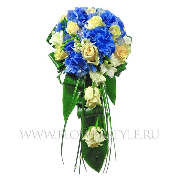 Букет невесты из роз и гортензий № 90