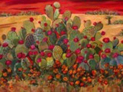 Пустыню, покрытую распустившимися цветами, можно увидеть в Южной Африке