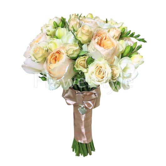 Букет для невесты из пионовидных роз № 102 дополнительные изображения