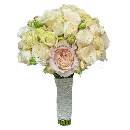 Букет невесты из пионовидных роз №83 дополнительные изображения