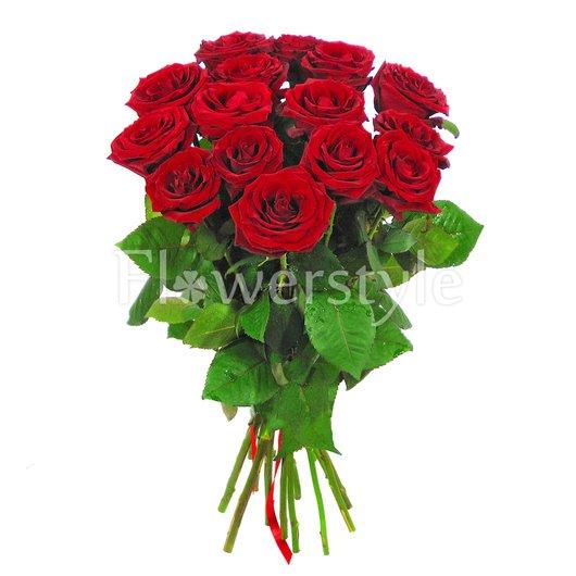 15, 25 или 51 крупных бордовых роз дополнительные изображения