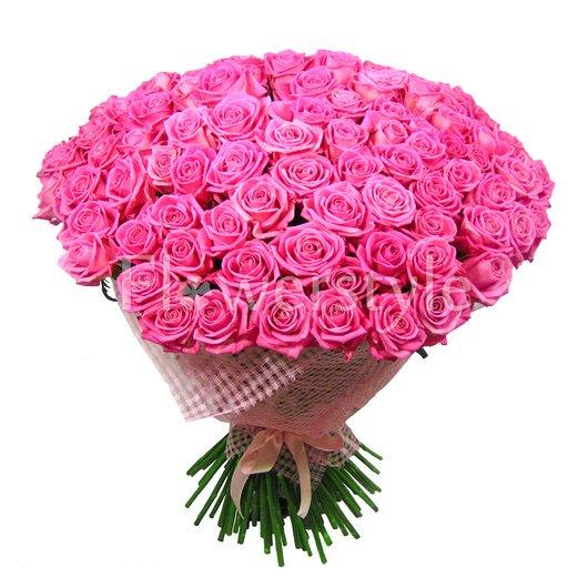 Огромный букет из розовой розы (101, 151 или 201) дополнительные изображения
