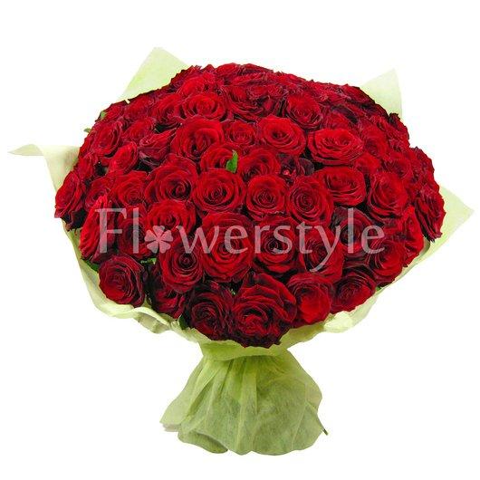 Шикарный букет из бордовых роз (101, 151 или 201) дополнительные изображения