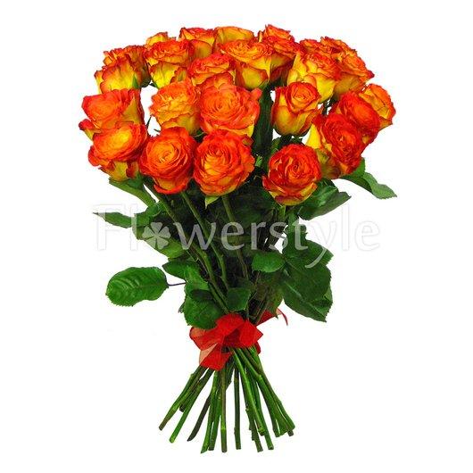 """Подарочный букет из 25 роз """"Пылкие чувства"""" дополнительные изображения"""