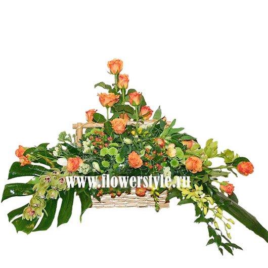Цветы в корзине «Чили»