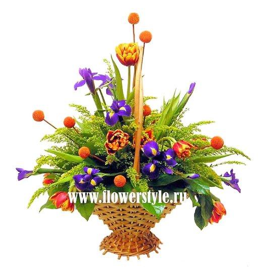 Цветы в корзине «Куба»