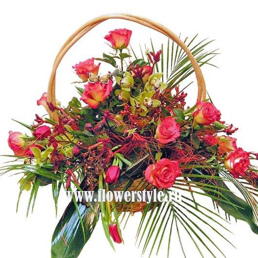 Цветы в корзине «Экспрессия»