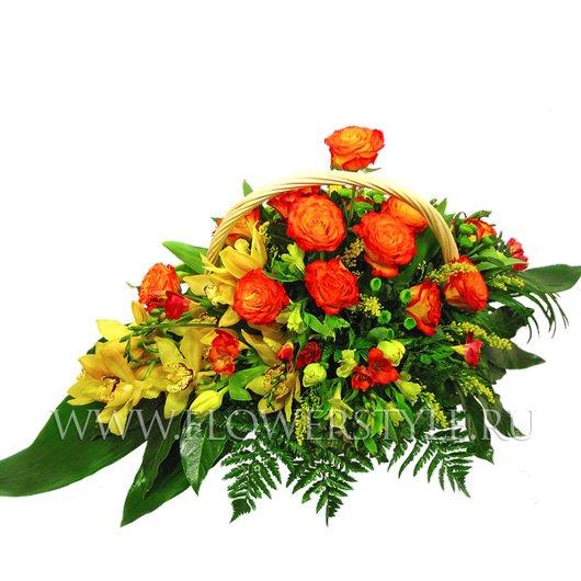 Подарочная корзина цветов «Щедрость»