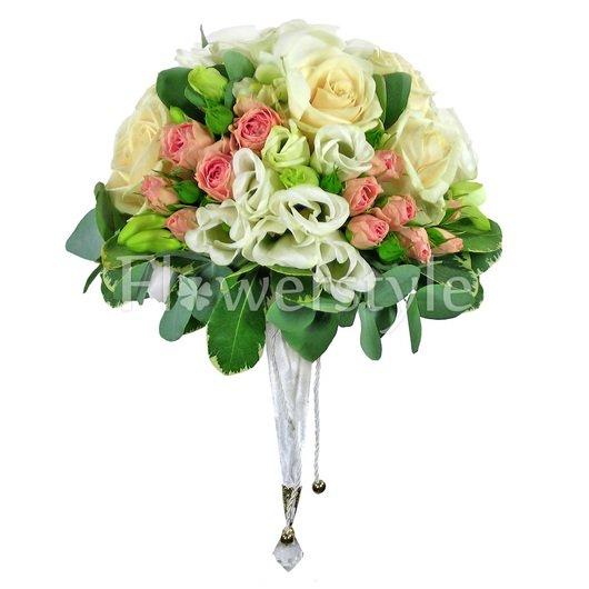 Букет цветов для невесты № 132 дополнительные изображения